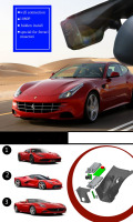PLUSOBD Car Black Box For Ferrari 458 488 F12 California Wifi Hidden WDR App Manipulation Night Vision Dash Cam Auto Camera DVR