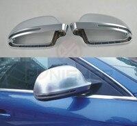 Зеркало заднего вида случае зеркала хром матовый чехол для Audi A4 B8 2008 2012