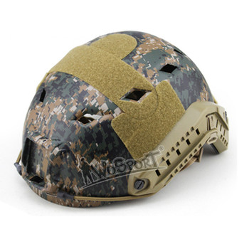 WoSport Military Airsoft Helmet Paintball Hunting Sport Half Cover Adjustable CS Field Game Protective Fast Helmet with Track