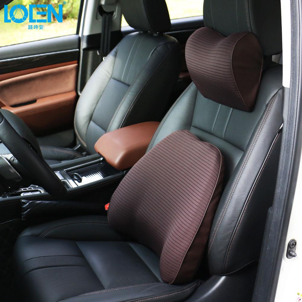 LOEN 1 set Car Seat Back Support Neck Pillow Cushion Memory Foam Seat Cover Headrest Waist Lumbar Pillow Nap Pads Car Care lotus printed car seat cushion linen pillow cover
