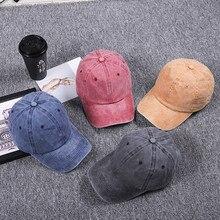 High Quality Washed Cotton Adjustable Solid Color Baseball Cap Unisex Women Men Hats Couple Fashion Brand Hat Caps Wholesale