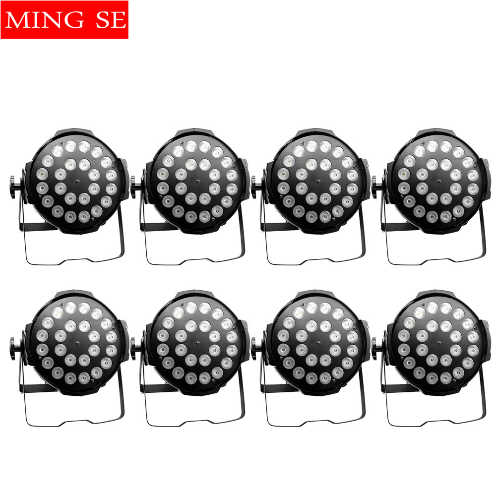 8units 24x12W RGBW 4in1 Aluminum LED Par Can Disco Lamp Stage Lights Luces Discoteca Laser Beam Luz de Projector Led Par Light 6units 24x12w rgbw 4in1 aluminum led par can disco lamp stage lights luces discoteca laser beam luz de projector led par light