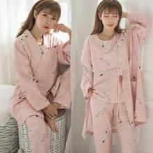 9f8cab665 3 piezas conjunto impreso algodón maternidad enfermería ropa de dormir  primavera otoño ropa de dormir para las mujeres embarazad.