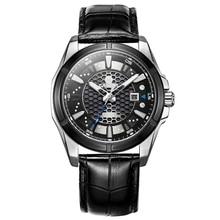 CASIMA luxury brand fashion Stainless Steel Clock Casual Watches Men's leather quartz watch Waterproof Watches relogio masculino