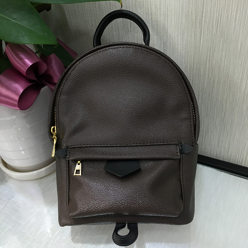 Free DHL Luxury Brand Monogram Mini Backpack Bag Women Classic Fashion Designer Real Leather and Canvas Cute Small Backpack