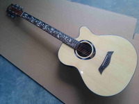 factory made flower inlay 40inch electric acoustic guitar free shipping