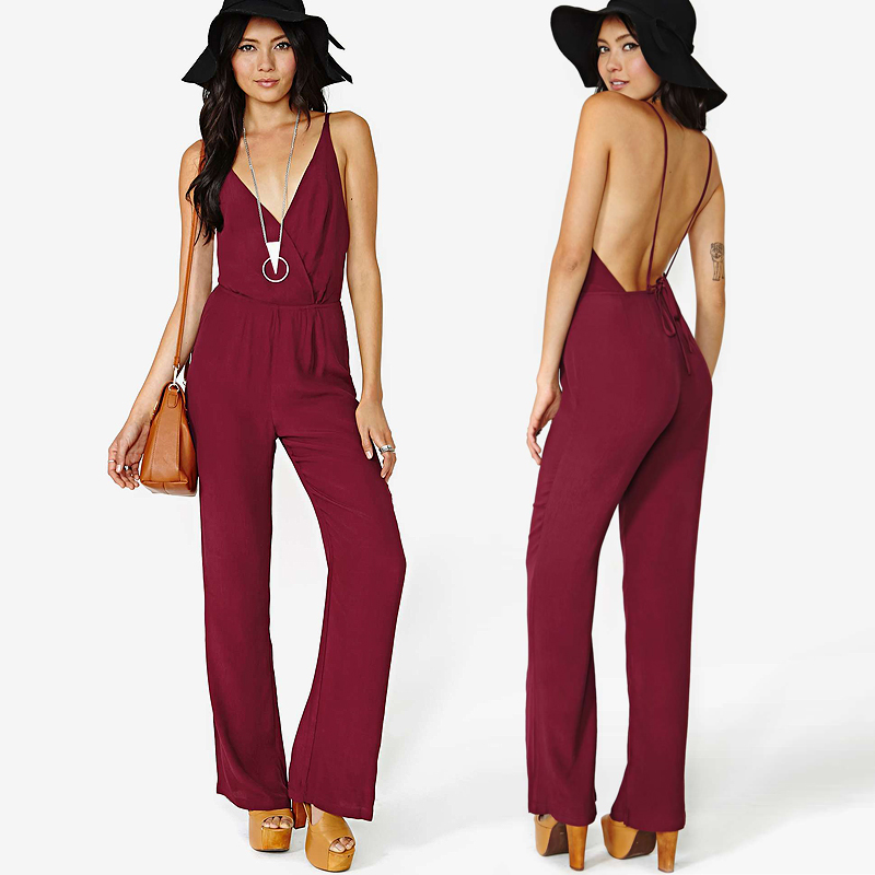 9ad78ebff1d Europe Street Fashion Sexy Jumpsuit Plus Size Jumpsuits And Rompers For  Women long jumpsuit largos de mujer Playsuit 2015 new