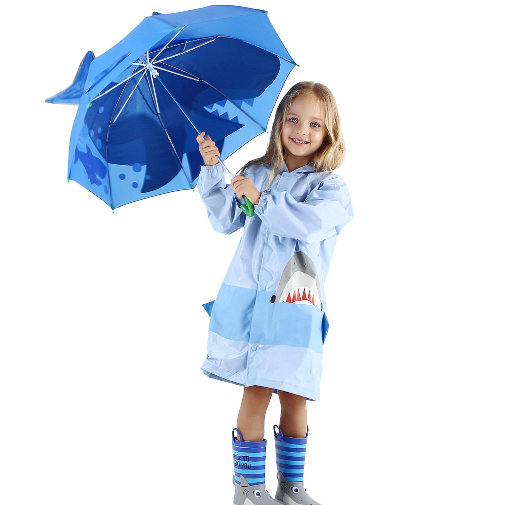 Image 4 - Baby Cover Parasol For Sun Rain Protection UV Rays 3D Cartoon Outdoor Umbrella Wind Resistant Folding Umbrella Rain Windproof-in Umbrellas from Home & Garden