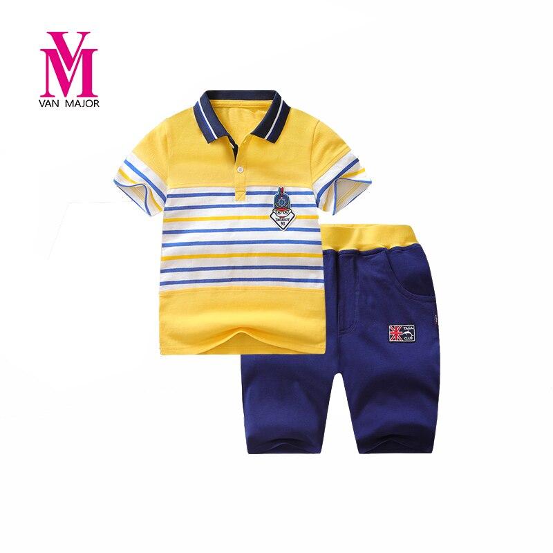 Boys Clothing Sets Children Sport Suits Children's Clothing Sets For Kids Cotton Clothes Boy POLO T-Shirts+ Pant