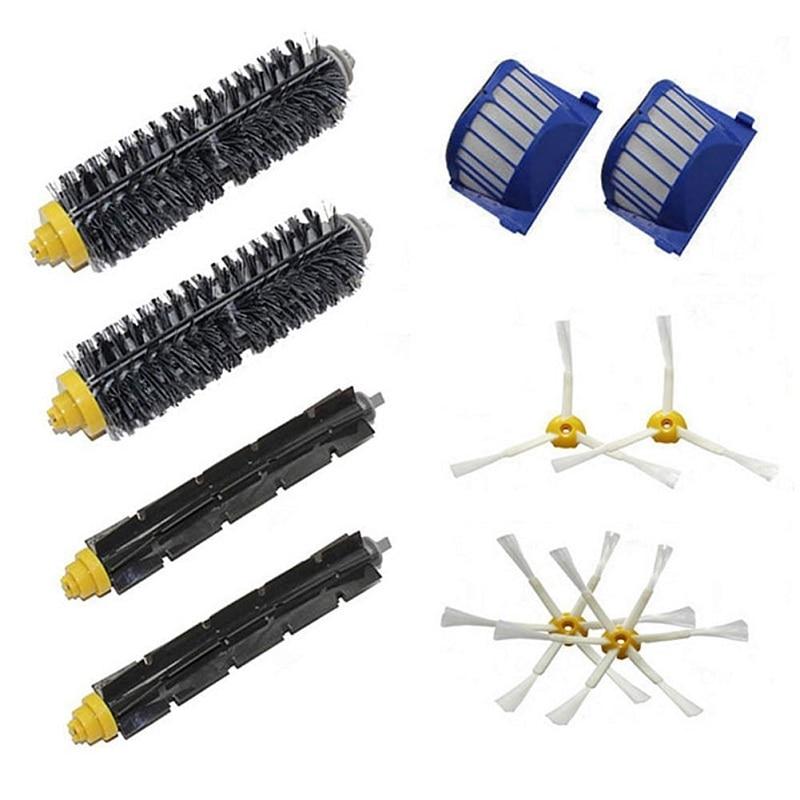 Hohe Qualität 2 Borsten und Flexible Beater & 4 Bewaffneten Pinsel & 2 aero vac filter für irobot roomba 600 series 620 630 650 660