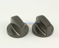 1 Pair Black Kitchen Metal Gas Stove Range Burner Knob Switch Replacement 45 Degree 8mm Hole