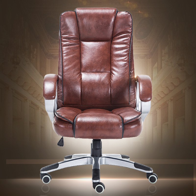 High quality boss chair home computer chair PU office swivel chair seat bow lay staff meeting seat 240311 high quality pu leather computer chair stereo thicker cushion household office chair steel handrails