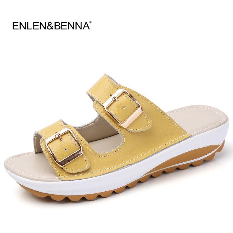 2017 sommar kvinnor platta sandaler skor fritid tofflor slip-on runda tå bekväma sandaler flip-flops kvinnliga skor strand sandal