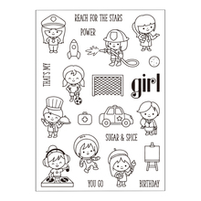 Dreamer Girls Design Transparent Clear Stamp Seal for Scrapbooking Photo Album Diary Card Making DIY Decoration Supply.