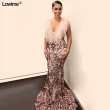 Lowime Saudi Arabia Mermaid Evening Dresses Prom Dresses