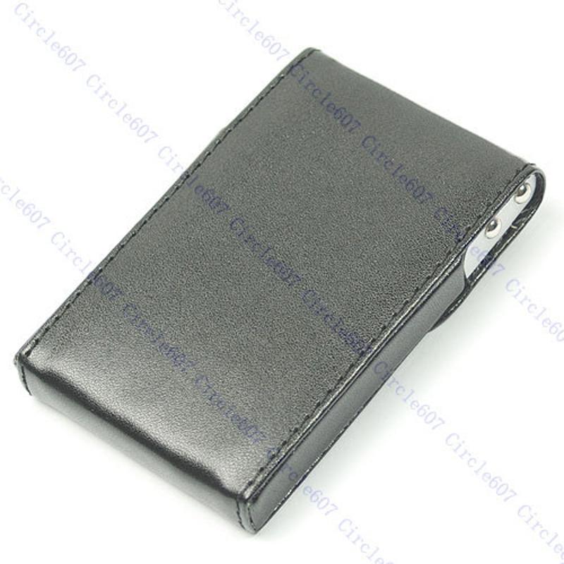 THINKTHENDO Luxury Men Business ID Credit Card Wallet Holder Leather Pocket Case Box Black