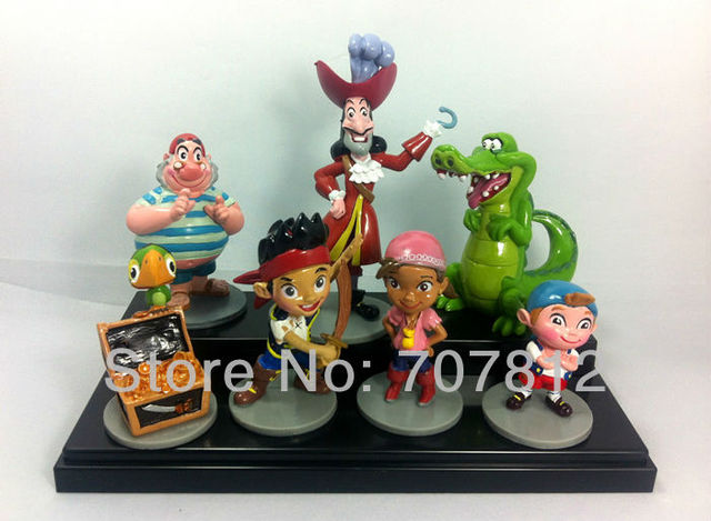 2013 wholesale New 7pcs Jake and the Never Land Pirates Figure Christmas Gift Free shipping