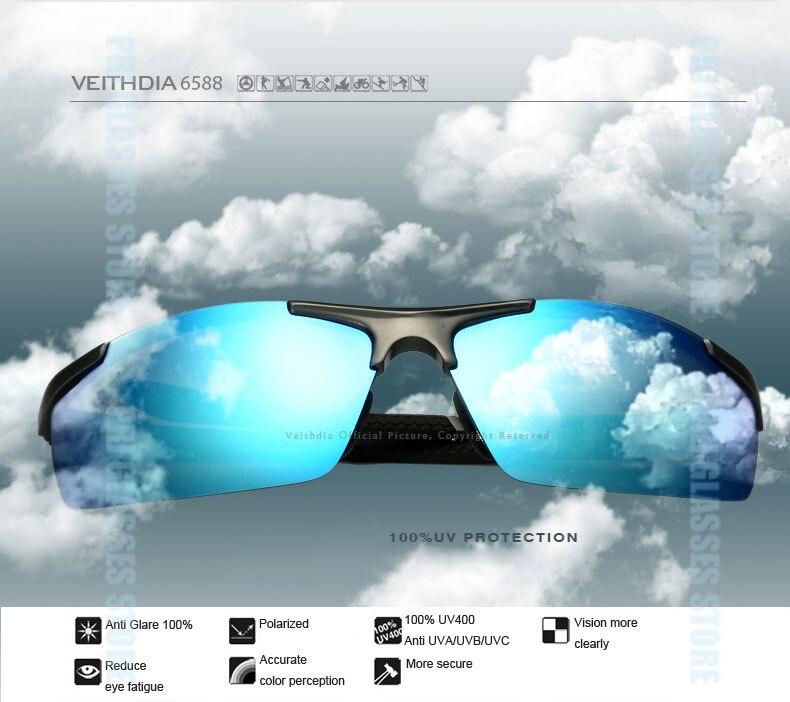 Поляризованные солнцезащитные очки из алюминиевого сплава. Мужские линзы. Зеркальные солнцезащитные очки для рыбалки, спорта и активного отдыха на свежем воздухе. Очки 6588