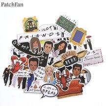 Patchfan 33 шт. друзья ТВ шоу Забавная детская игрушка наклейка для телефона DIY багаж ноутбук мотоцикл телефон водонепроницаемый стикер s A1438