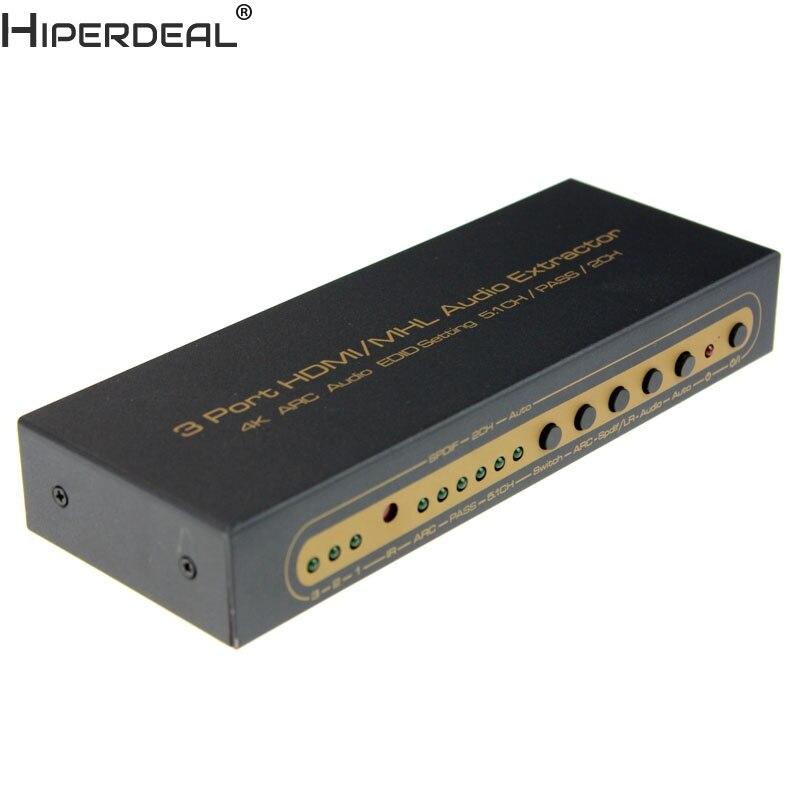HIPERDEAL 4 K HDMI commutateur sélecteur de boîte sortie Audio extracteur séparateur ARC Oct27