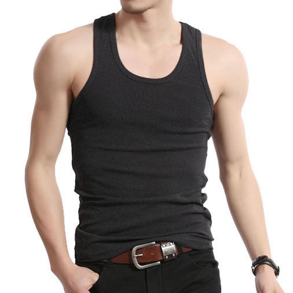 d089c30618549 Muscle Men Top Quality 100% Premium Cotton A Shirt Wife Beater ...