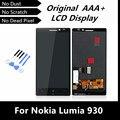 100% testado alta qualidade Display LCD + Touch Screen digitador para Nokia Lumia 930 substituição LCD de telefone com ferramentas