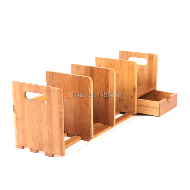 Bamboo bookcase bookcase simple desktop bookshelf wood small table small  bookcase with drawer telescopic retractable shelves ... - Wooden Sunshades Picture - More Detailed Picture About Bamboo