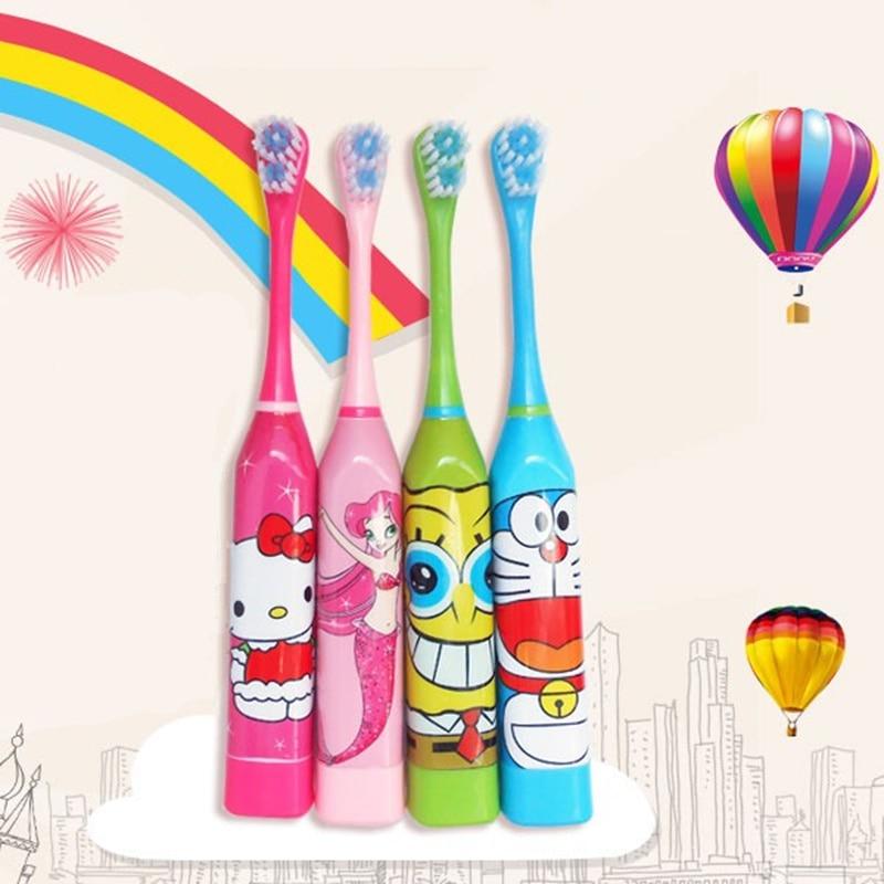 Ultrasonic font b Toothbrush b font Children Cartoon Cute Hello Kitty font b Electric b font