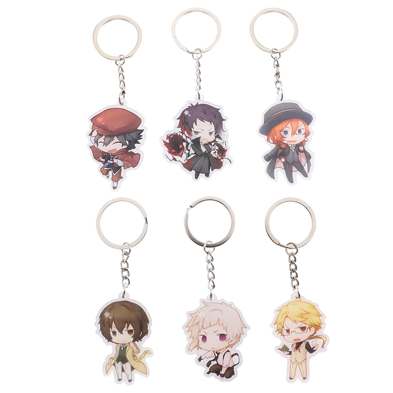 US $0 63 17% OFF|Anime Bungou Stray Dogs Atsushi Nakajima Double Sided  Acrylic Keychain 6 Styles Pendant Key Accessories-in Key Chains from  Jewelry &