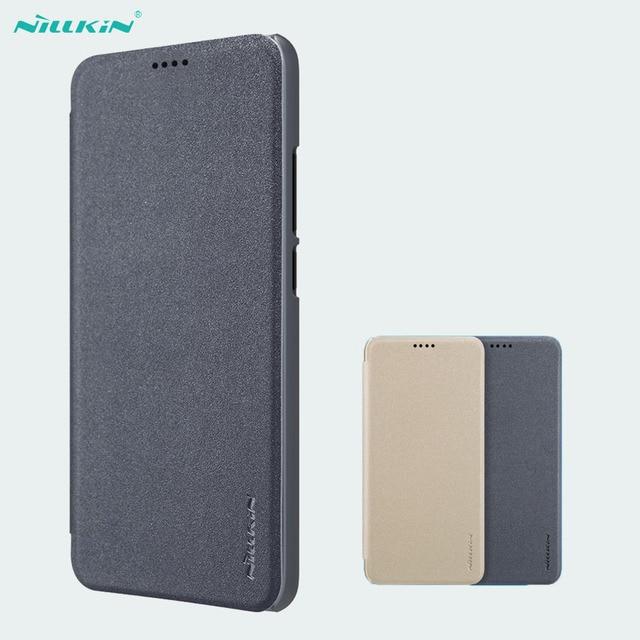 Huawei Onur Honor 10 için Kapak Kılıfı NILLKIN Sparkle Süper İnce Flip Case Kapak PU Deri Kılıf için Huawei Honor10 telefon Çanta Durumda