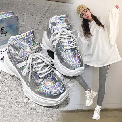 European station 2019 spring wisdom smoked super fire old shoes increased white shoes thick bottom Hong Kong taste casual shoesEuropean station 2019 spring wisdom smoked super fire old shoes increased white shoes thick bottom Hong Kong taste casual shoes