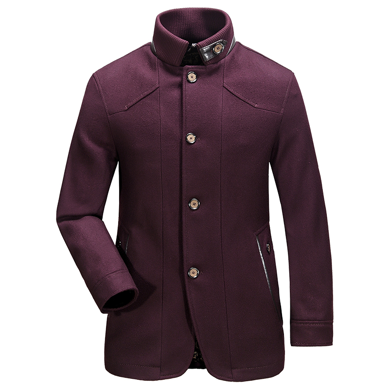 Military Style Pea Coat Men