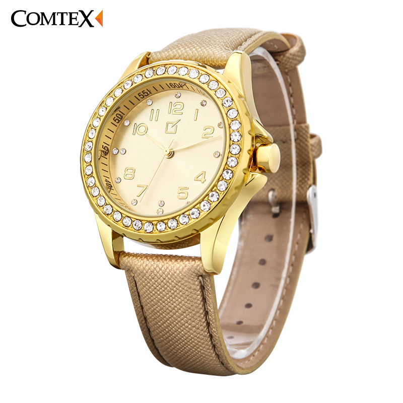 COMTEX Women Watches Luxury Brand Design Fashion Watch 2017 Hot sale Casual Analog Quartz Waterproof Wristwatch For Ladies Gift waterproof watch for women nuodun top brand hot sale ladies business watch with calendar week woman wristwatch assista mulher