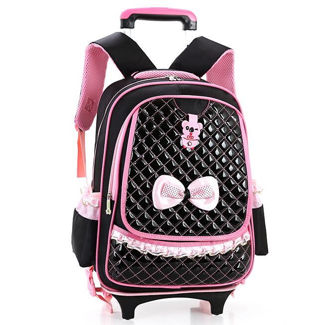 ФОТО Multifunctional Removable Trolley School Bag & Girls School Backpack Mochilas Kids Backpacks With Wheels