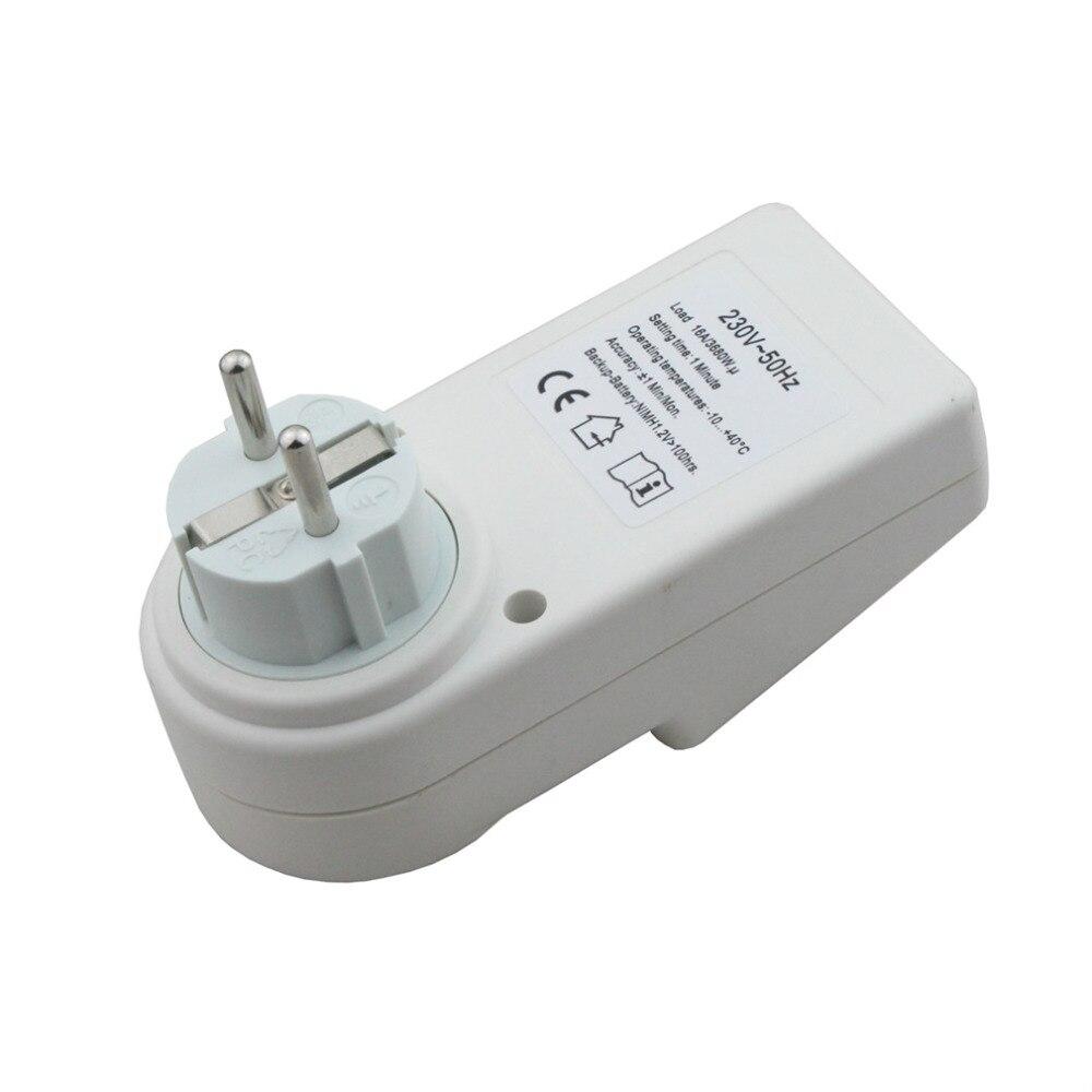 couleur: blanc Commutateur de minuterie programmable enfichable 230V /à /économie d/énergie Prise avec horloge Heure d/ét/é Fonction al/éatoire EU Plug