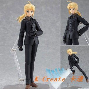 ФОТО 1pcs Japan anime pvc Fate/Stay Night POP Saber on suit style action figure toys tall 15cm toy