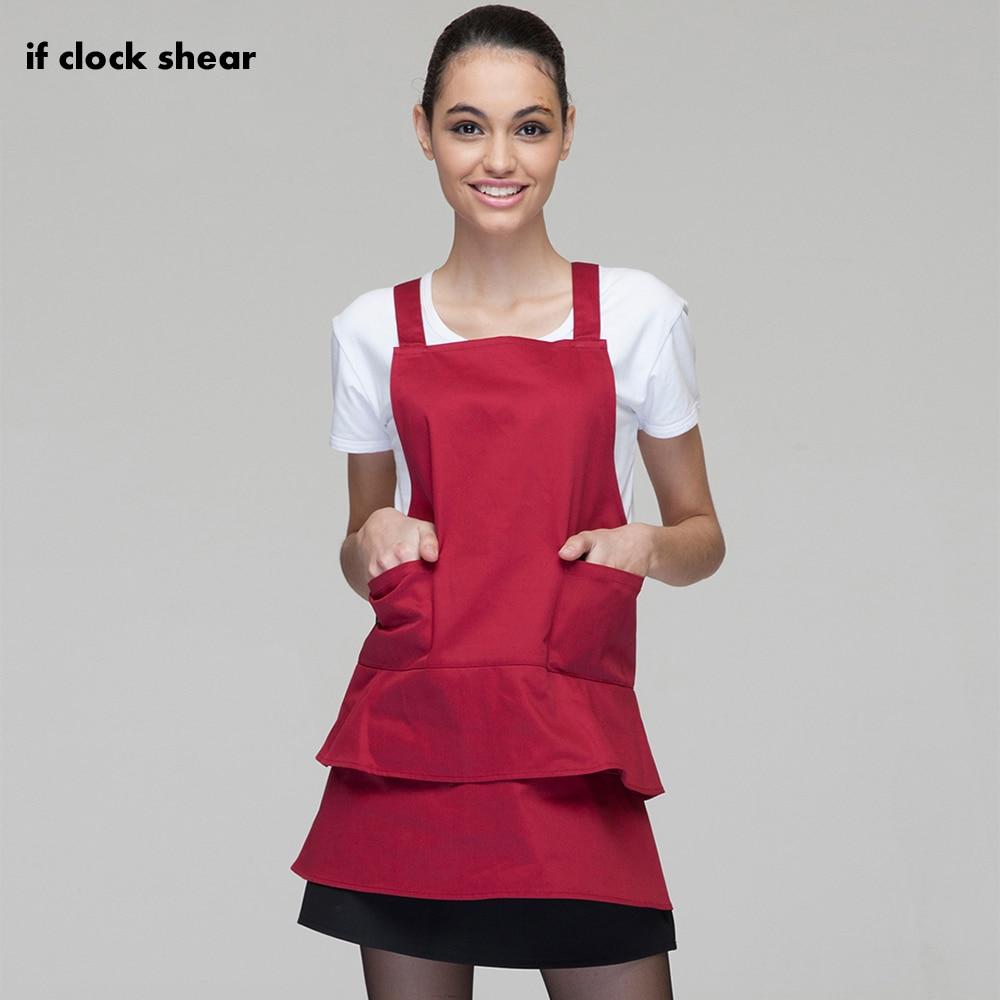 Waterproof House Kitchen Chef Butcher Lady Women Apron Home Restaurant Cooking Baking BBQ Hairdresser New Design Dress For Women