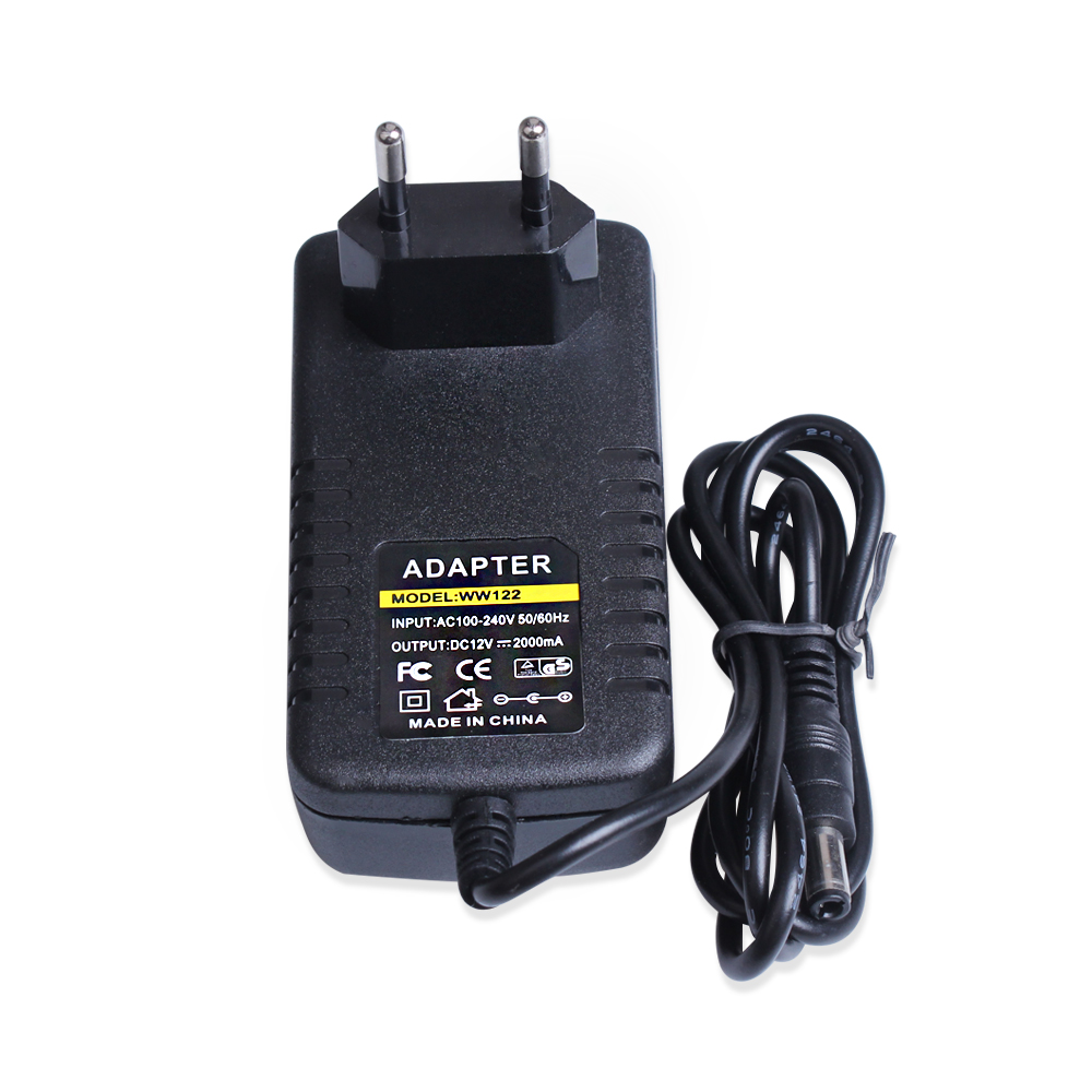 12V 2A Output Security Power Adapter Supply Indoor Outdoor AC100-240V