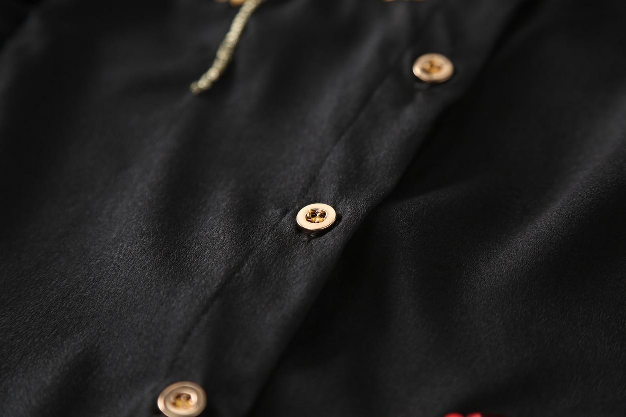 Qyfcioufu Volants Femmes Plus 2018 Haute Mode Longues D'été Manches Paillettes La Chemisier Mousseline De Taille Shirt Tops À Qualité En Xxxl Noir raAr50xwq