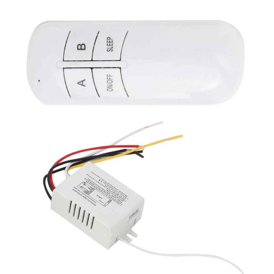 2 Ways ON/OFF 220V Digital Wireless Wall Light Receiver Transmitter Remote Control Switch