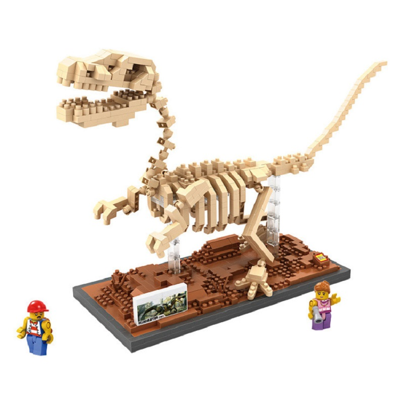 LOZ Jurassic World Diamond Building Blocks Velociraptor Fossil 3D Figures Model DIY Nano Blocks Bricks Toys Gifts For Children