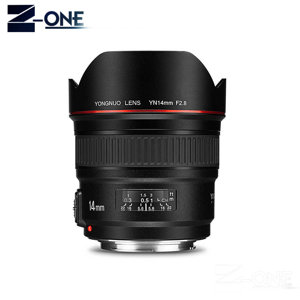 2018 YONGNUO 14mm Ultra-wide Angle Lente Prime YN14mm F2.8N Foco Automático De Metal de Montagem para Nikon Câmeras DSLR