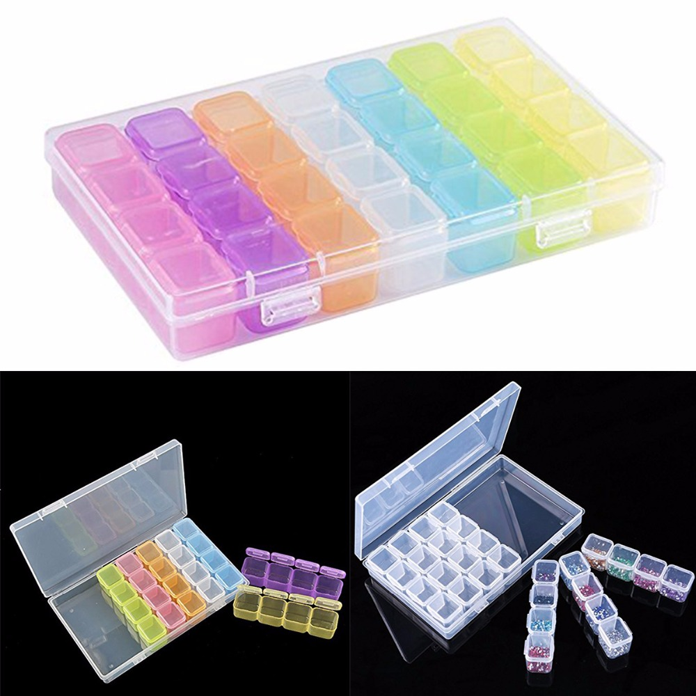 Case Organizer Divider Sorting-Holder Storage-Box Detachable Embroidery-Accessories Rhinestone