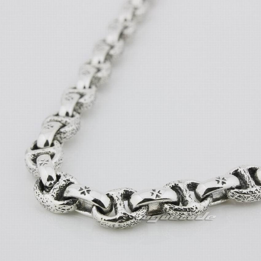 Image 4 - 925 Sterling Silver Mens Biker Necklace 8L008biker necklacesilver menmens sterling silver necklace -