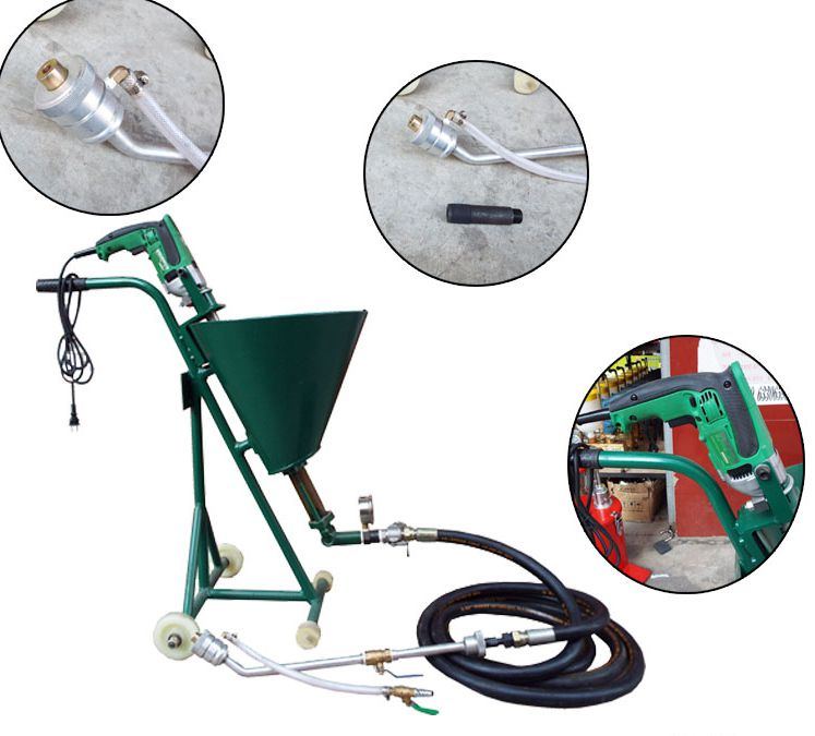 Machine d'injection époxy, pompe d'injection de polyuréthane, pompe d'injection de micro-ciment, réparation de béton, joint de règlement étanche