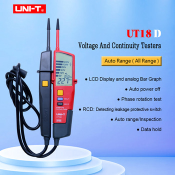 UNI-T UT18D Voltage And Continuity Tester Auto Range Volt Detectors Pen Date Hold/ LED/LCD Display Digital Multimeter