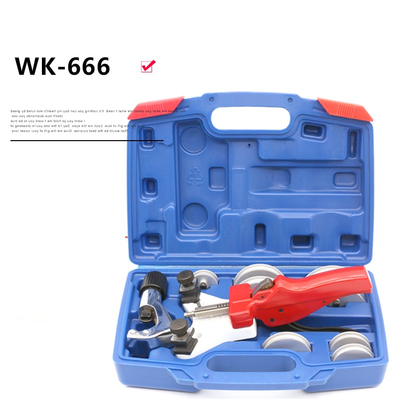 Tubing Pipe Bender WK-666 Copper Pipe Tubing Bender Manual Tube Bending Tool Kit 5-12mm Air conditioning copper pipe too free shipping bosi new 5 31mm bearing tubing pipe cutter for copper aluminum tube cutting