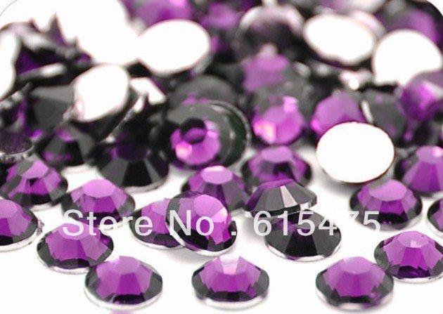 2mm TANZANITE Color SS6 crystal Resin rhinestones flatback,Nail Art Rhinestones,100,000pcs/bag