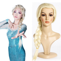 New High Quality Elsa Princess Cosplay Wig For Adult Children Kids Anime Halloween Play Wig Party