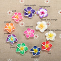 20pc/lot 20mm Yiwu Market Beautiful Soft Clay Polymer Fimo Plumeria Flower Beads Decorated Hawaii Earring Jewelry Craft Material
